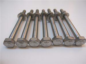 Paras Qulity Hex Head DIN933 Titanium Bolt Gr2 myytävänä