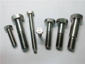 No.25-Incoloy a286 kuusiokoloruuvit 1.4980 a286 kiinnikkeet gh2132 ruostumattomasta teräksestä valmistettujen koneiden ruuvikiinnikkeet