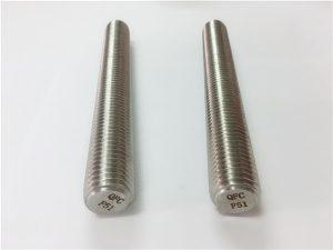 No.77 Duplex 2205 S32205 ruostumattomasta teräksestä valmistetut kiinnittimet DIN975 DIN976 kierteitetyt tangot F51