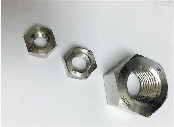 duplex 2205 / f55 / 1.4501 / s32760 ruostumattomasta teräksestä valmistetut kiinnikkeet, painava kuusio mutteri m20